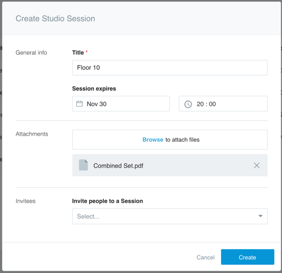Create Studio Session