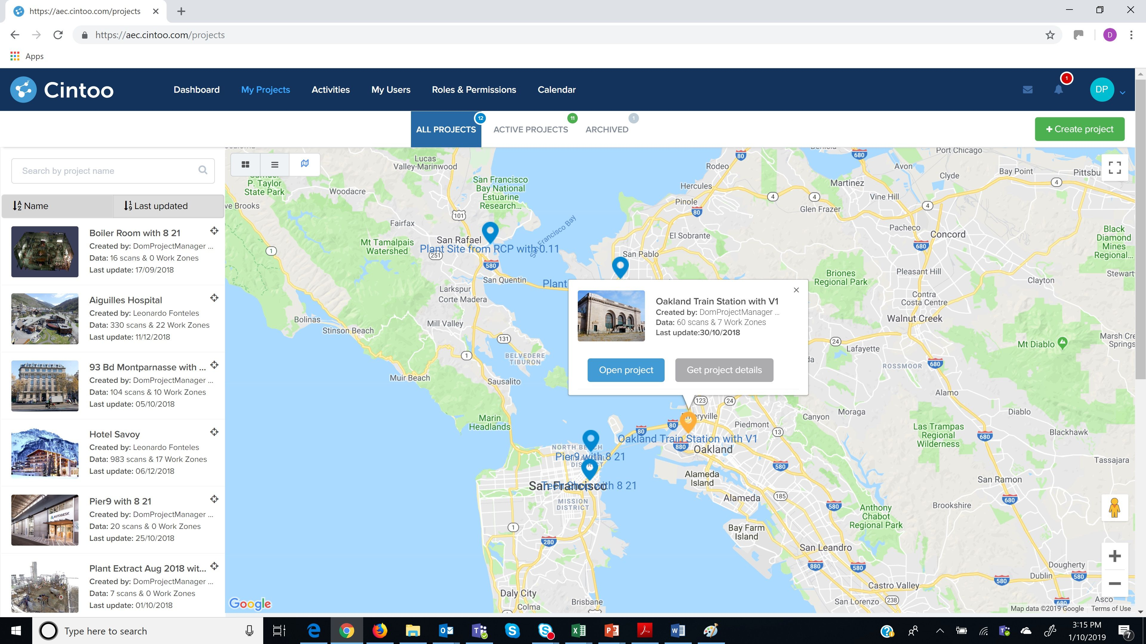 Cintoo Cloud Projects_Map View