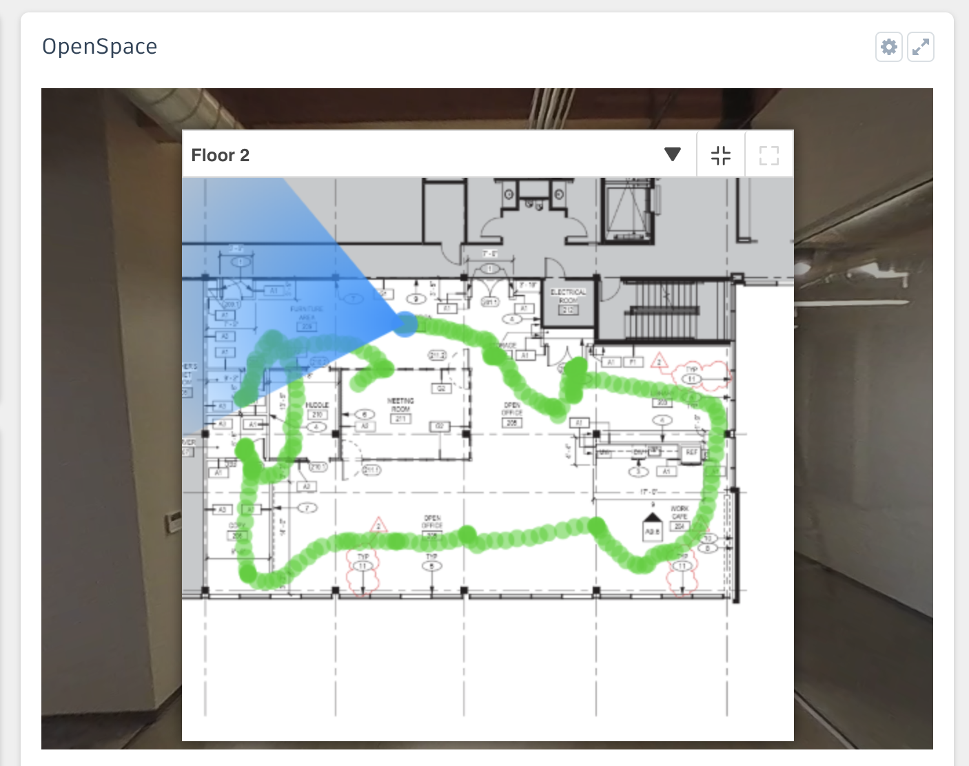 OpenSpace BIM 360 Project Home - Walk Path on Plans
