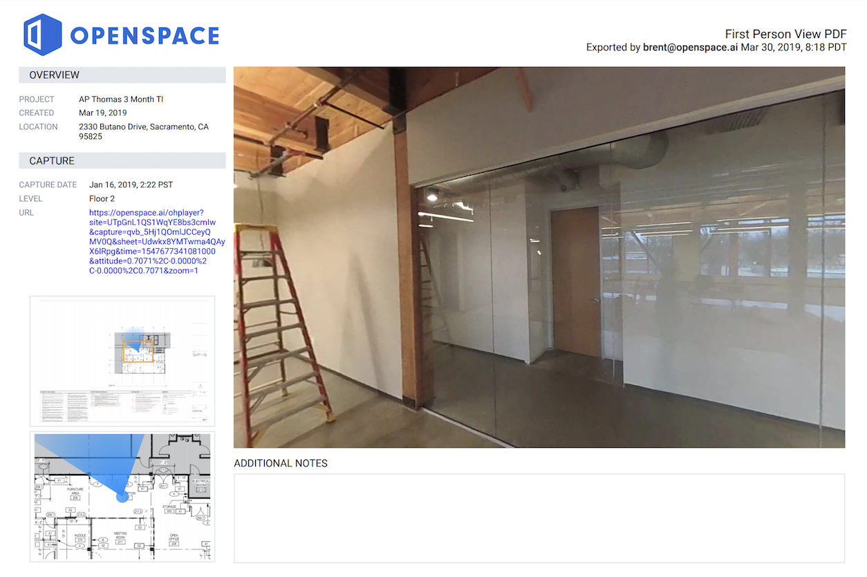 OpenSpace BIM 360 Project Home - PDF Export