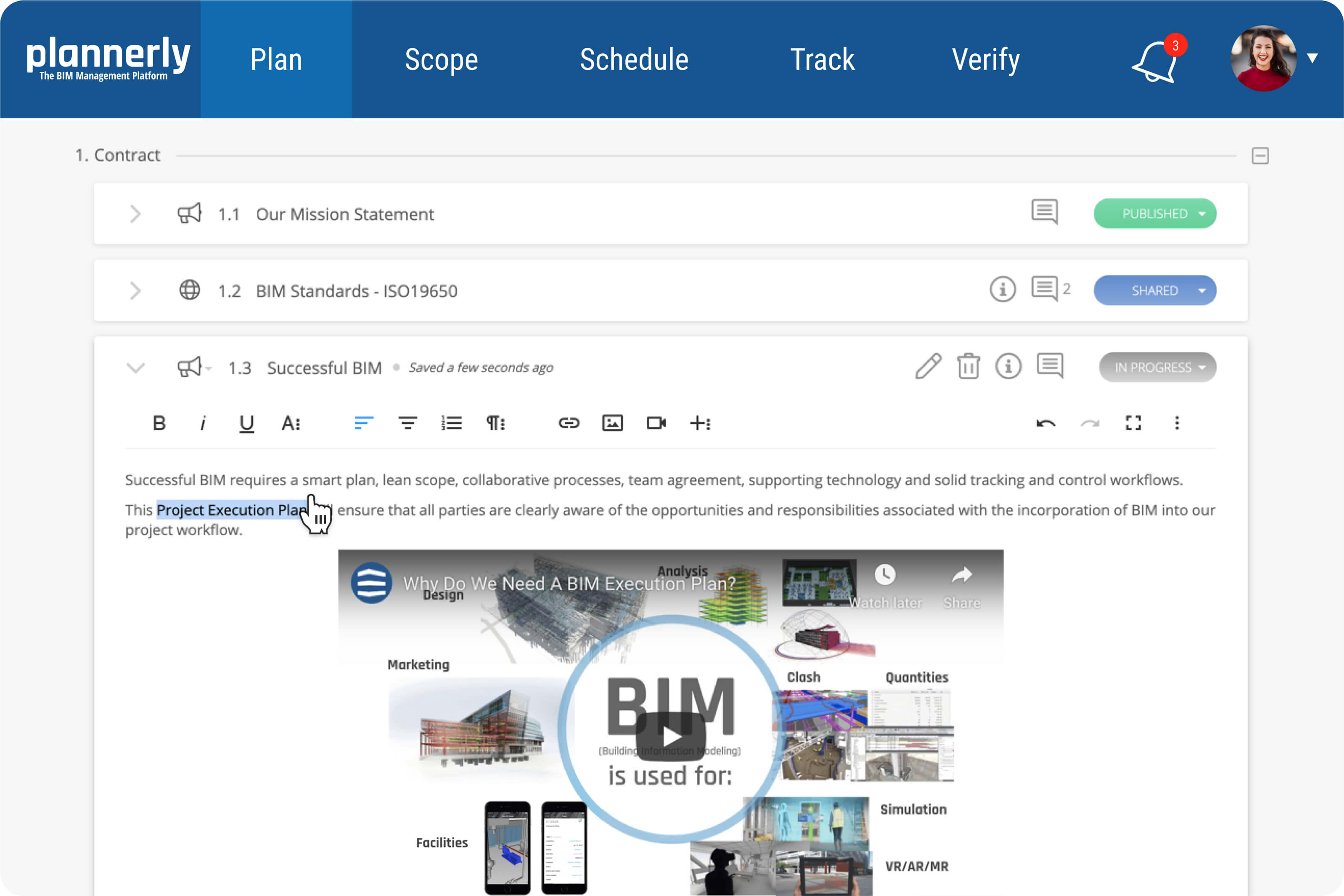 Plannerly - Plan Module - for BIM Execution Planning