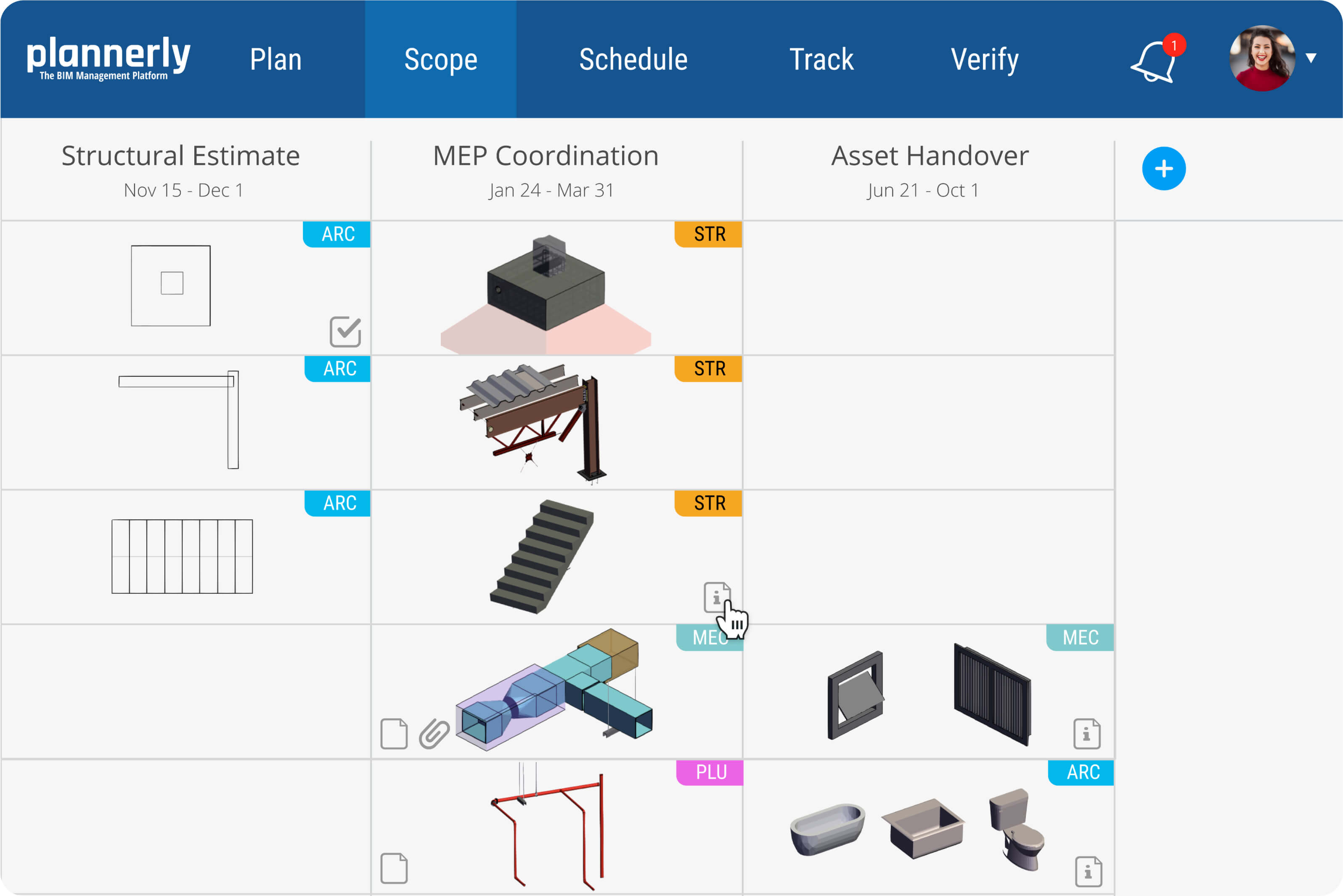 Plannerly - Scope Module - for BIM Requirements Scoping