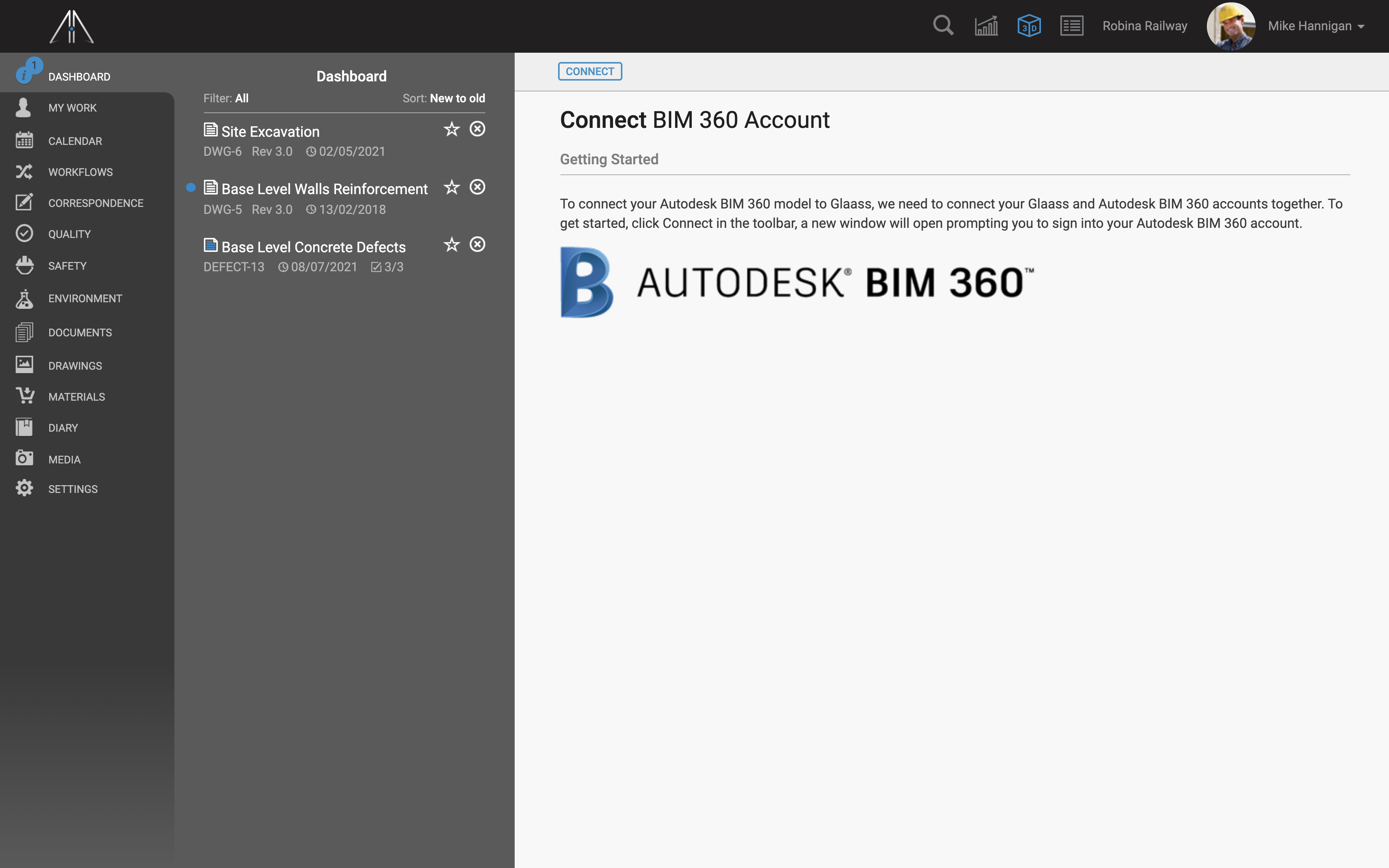 Start with connecting Autodesk and Glaass accounts