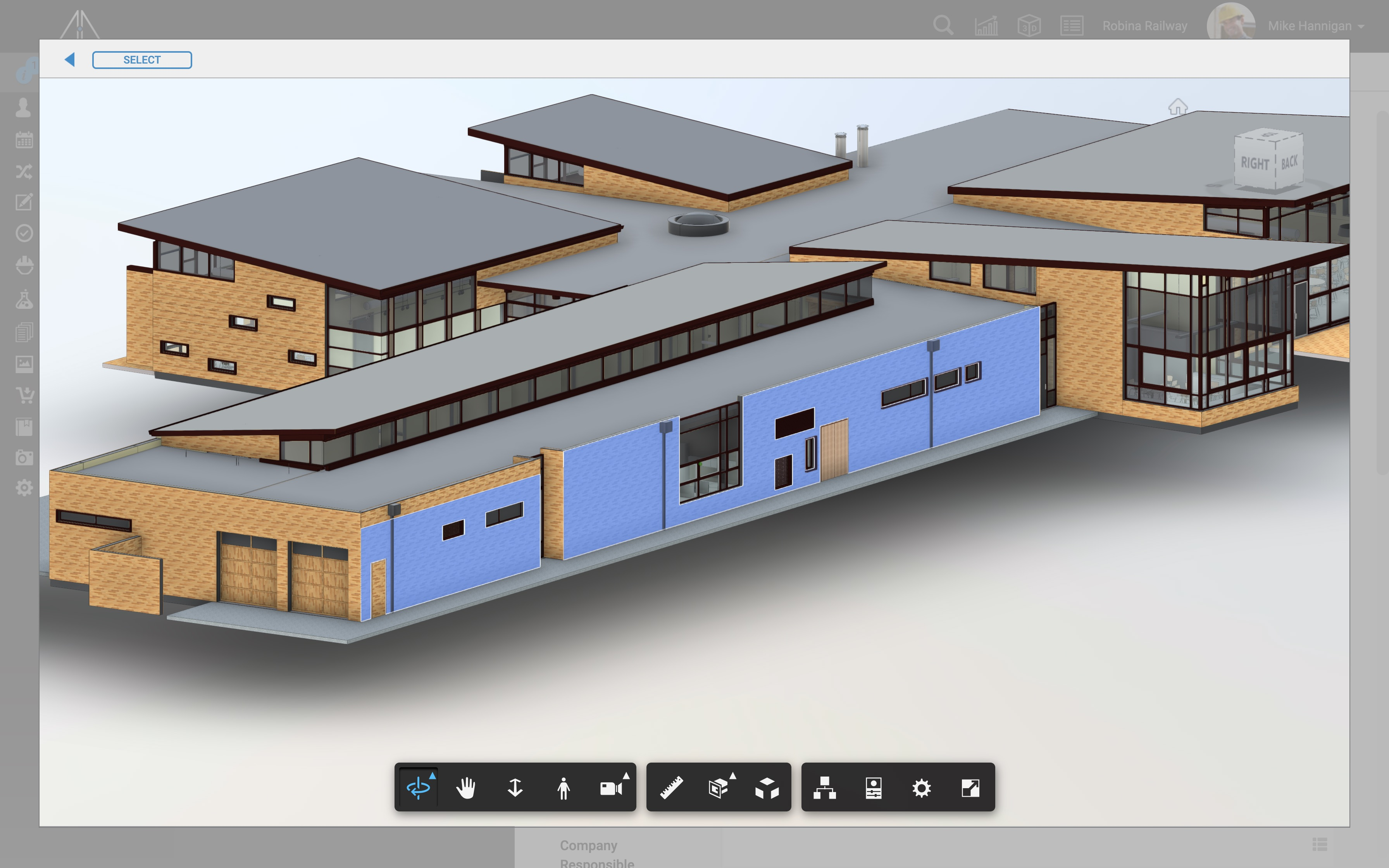 Elements on BIM models can be selected and pinned to Glaass Pro cases