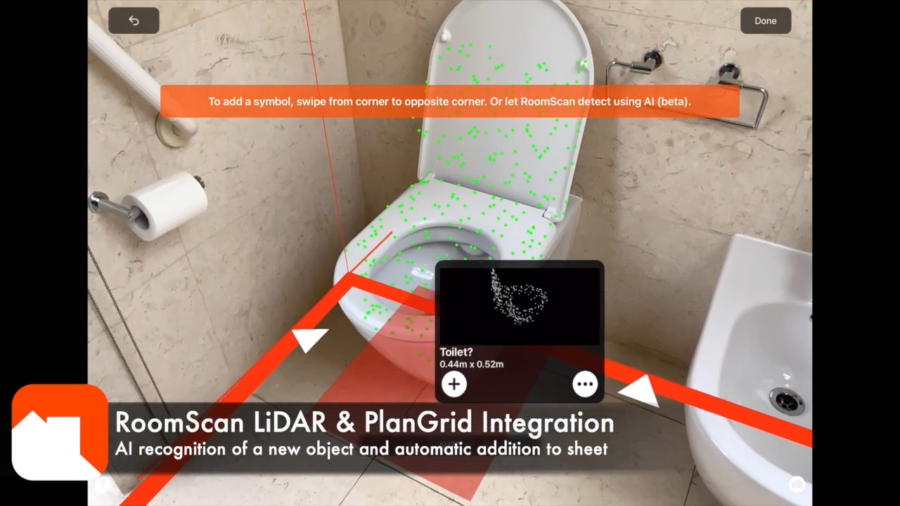 1 - Object is LiDAR scanned and recognized