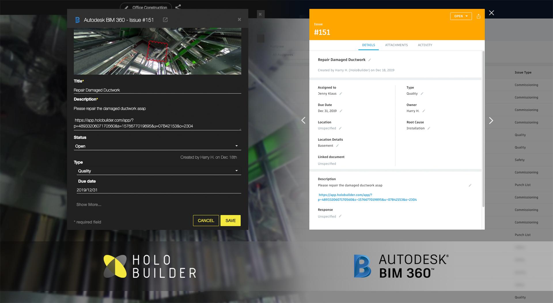 1 - HoloBuilder & Autodesk BIM 360 Integration