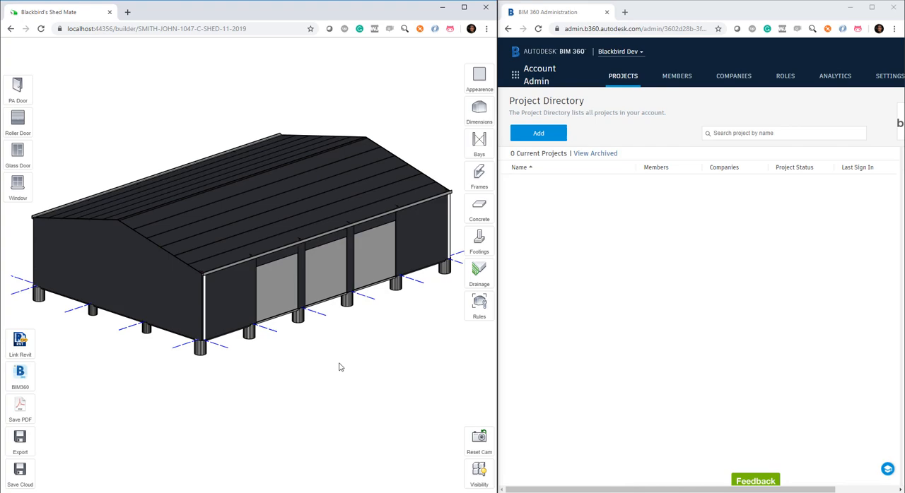 Shedmate and BIM360 integration